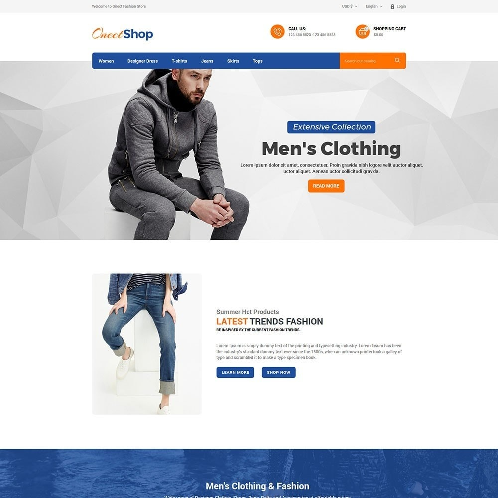 theme - Мода и обувь - Onect Shop Fashion Store - 2