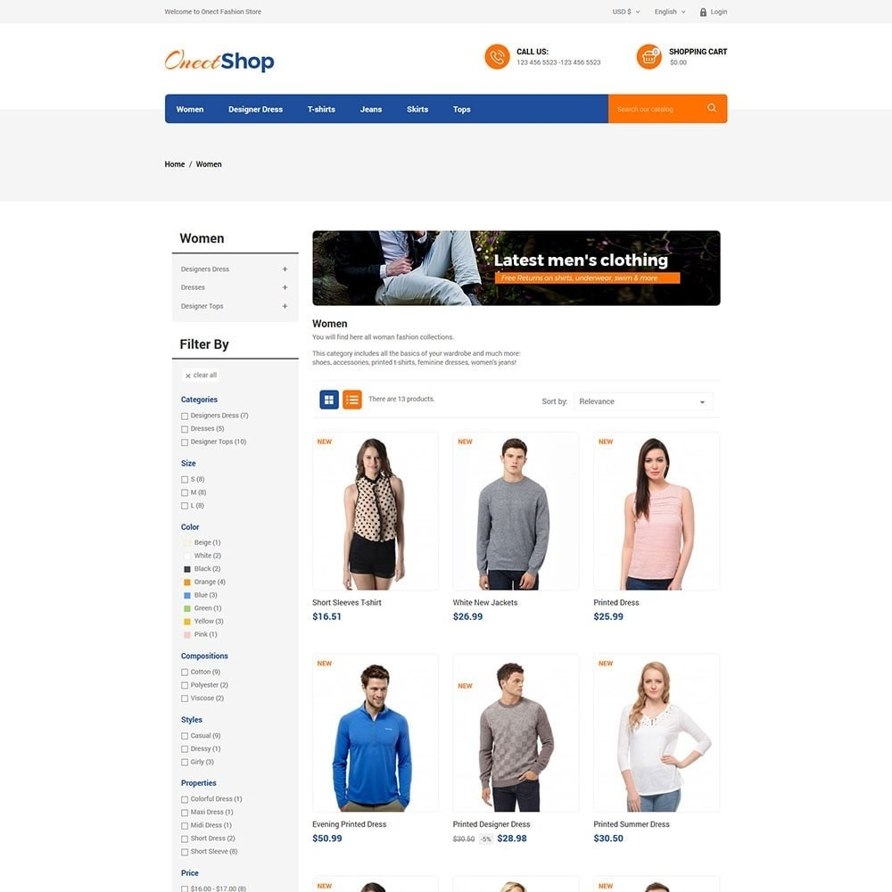 theme - Мода и обувь - Onect Shop Fashion Store - 3