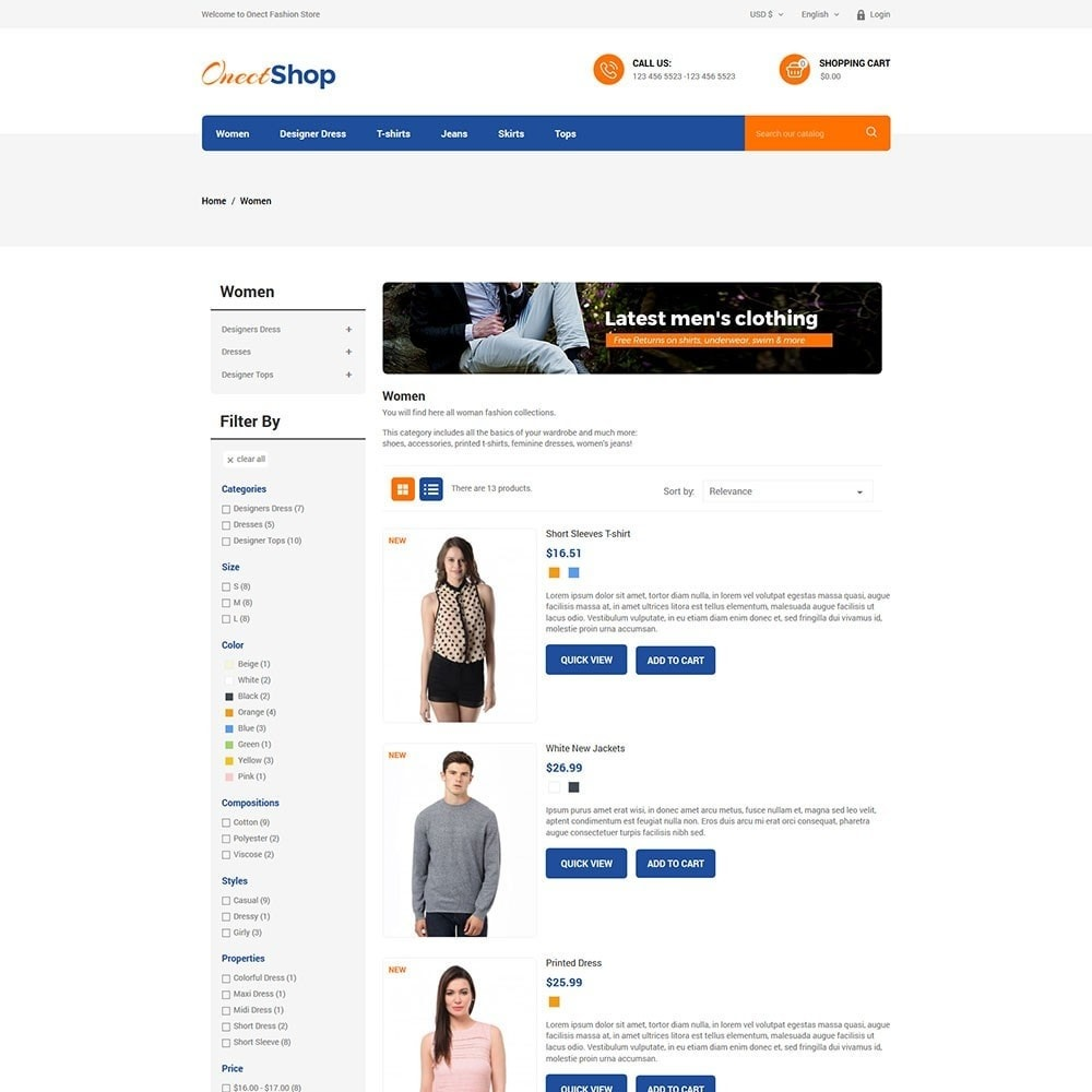 theme - Мода и обувь - Onect Shop Fashion Store - 4