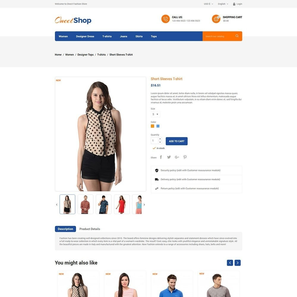 theme - Мода и обувь - Onect Shop Fashion Store - 5