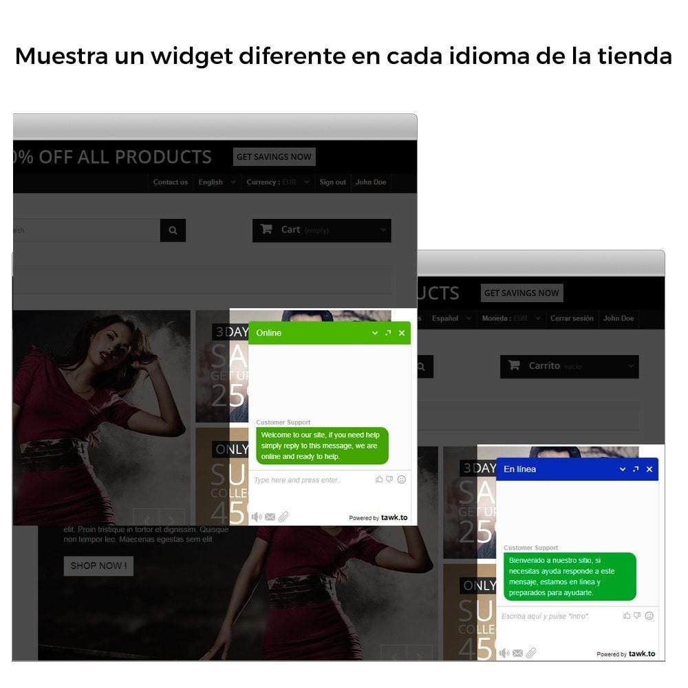module - Asistencia & Chat online - Tawk.to - Chat integrado en tiempo real - Multilenguaje - 4