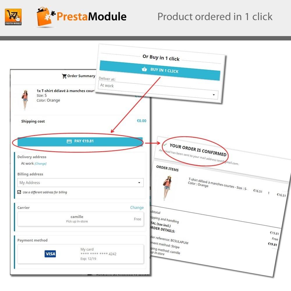 module - Płatność kartą lub Płatność Wallet - One Click Order - Buy in one click - 1