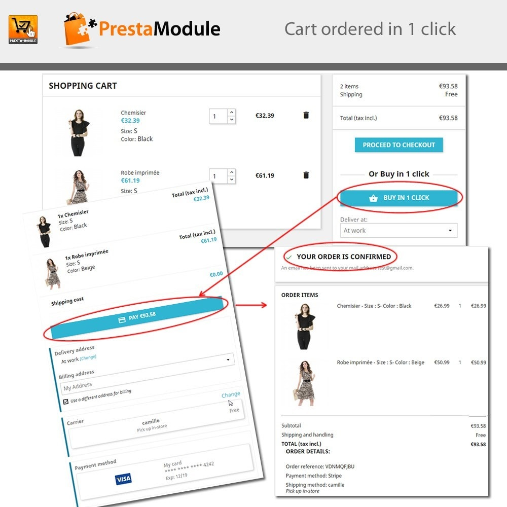 module - Express Checkout Prozesse - One Click Order - 2