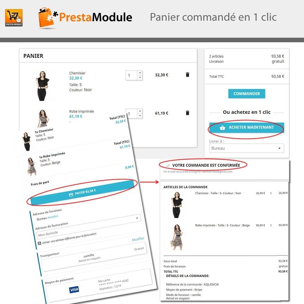 module - Paiement par Carte ou Wallet - One Click Order - Achat en un clic - 2