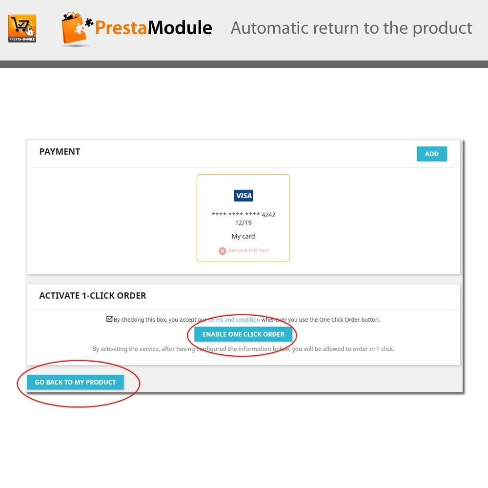 module - Express Checkout Prozesse - One Click Order - 9