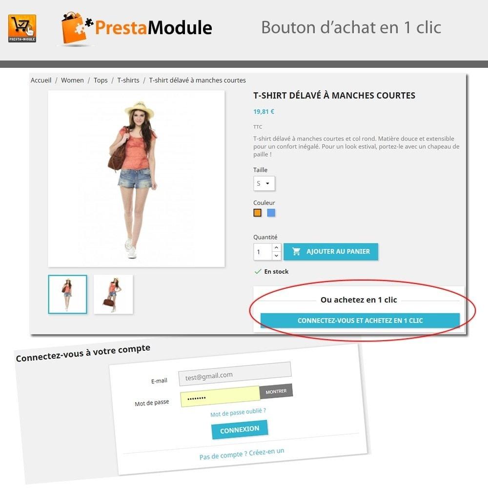 module - Paiement par Carte ou Wallet - One Click Order - Achat en un clic - 7