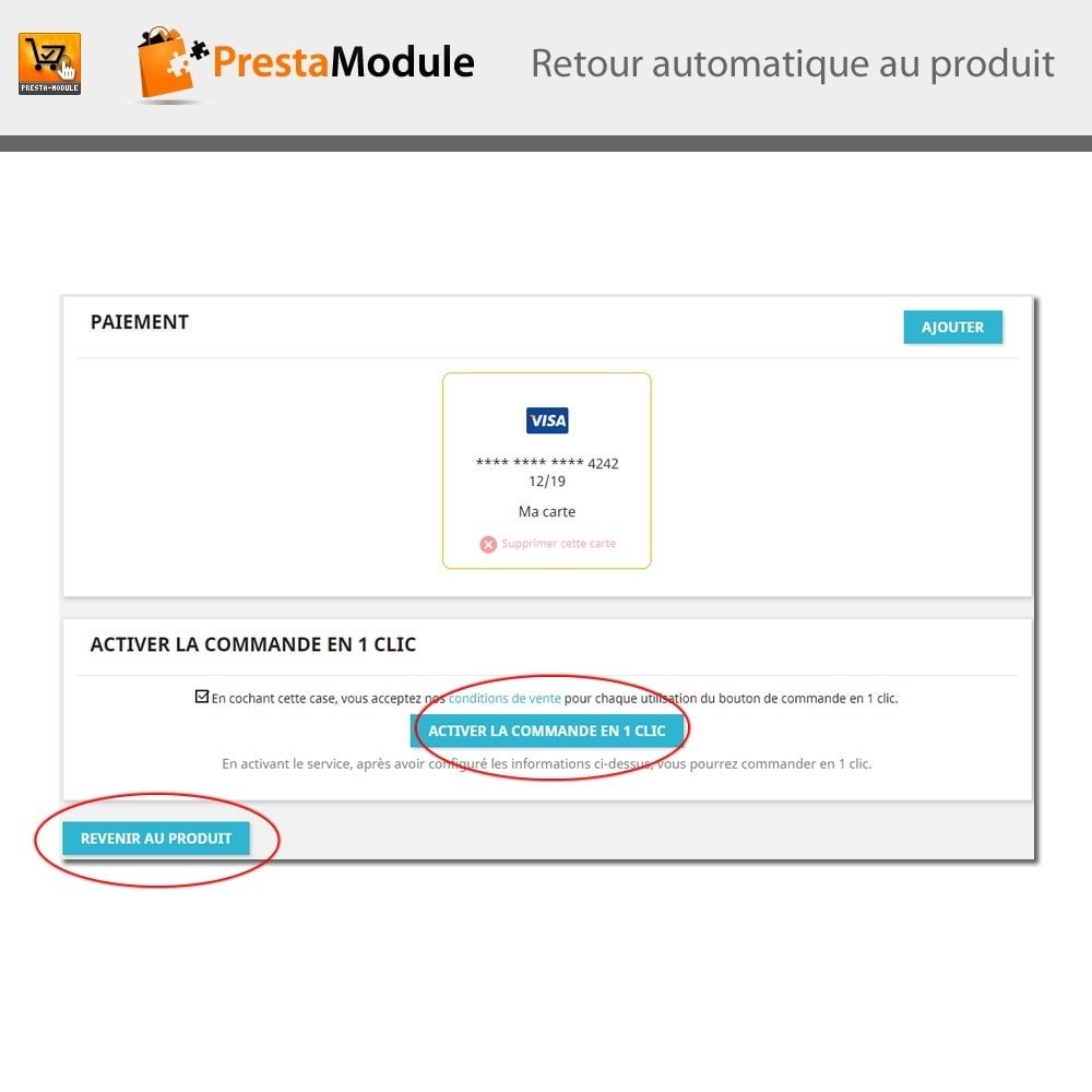 module - Processus rapide de commande - One Click Order - 9