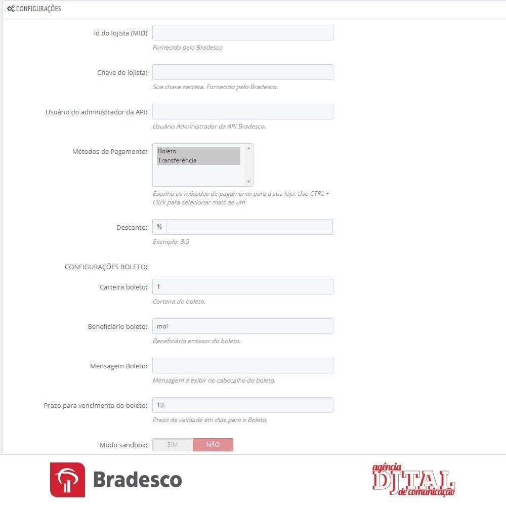module - Pagamento por cartão ou por carteira - SPS Bradesco - 2