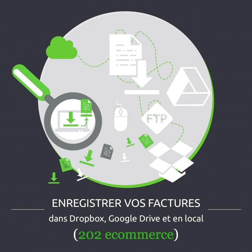 module - Migration de Données & Sauvegarde - Enregistrer vos factures: Dropbox, Google Drive, local - 1