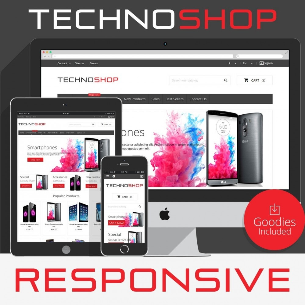 theme - Elektronica & High Tech - TechnoShop - 1