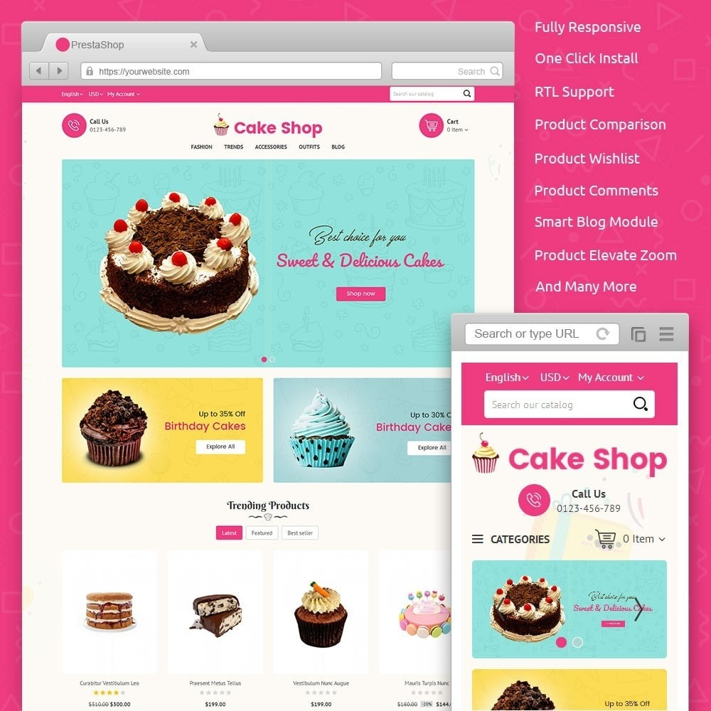 theme - Lebensmittel & Restaurants - Cake Store - 1