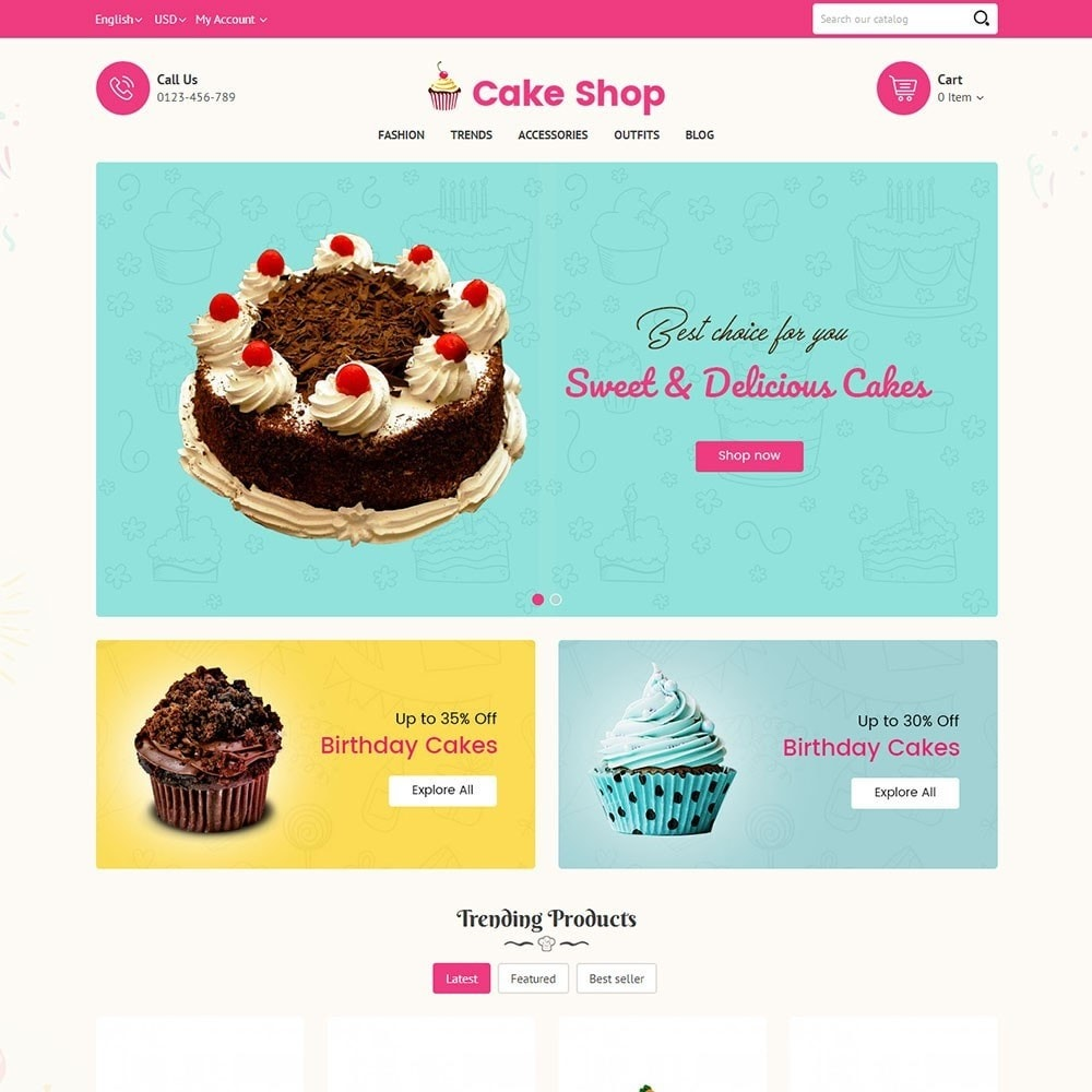 theme - Lebensmittel & Restaurants - Cake Store - 2