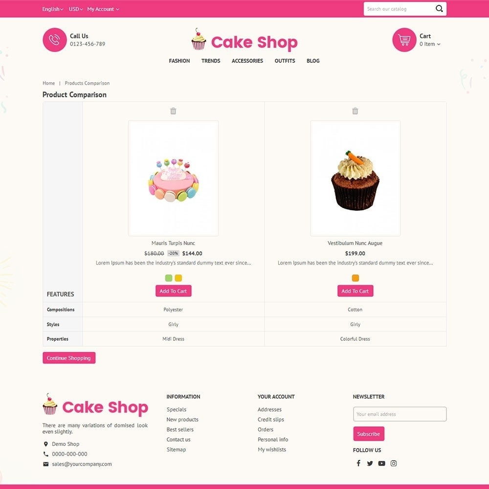 theme - Lebensmittel & Restaurants - Cake Store - 7