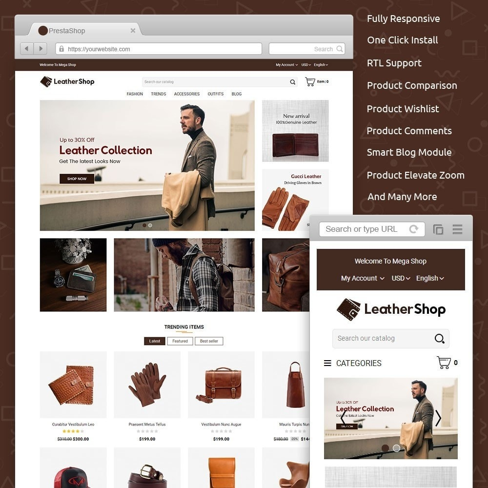 theme - Moda & Calzature - Leather Shop - 1