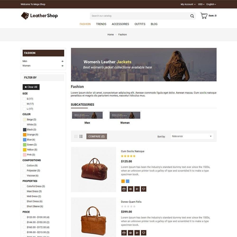 theme - Moda & Calzature - Leather Shop - 4