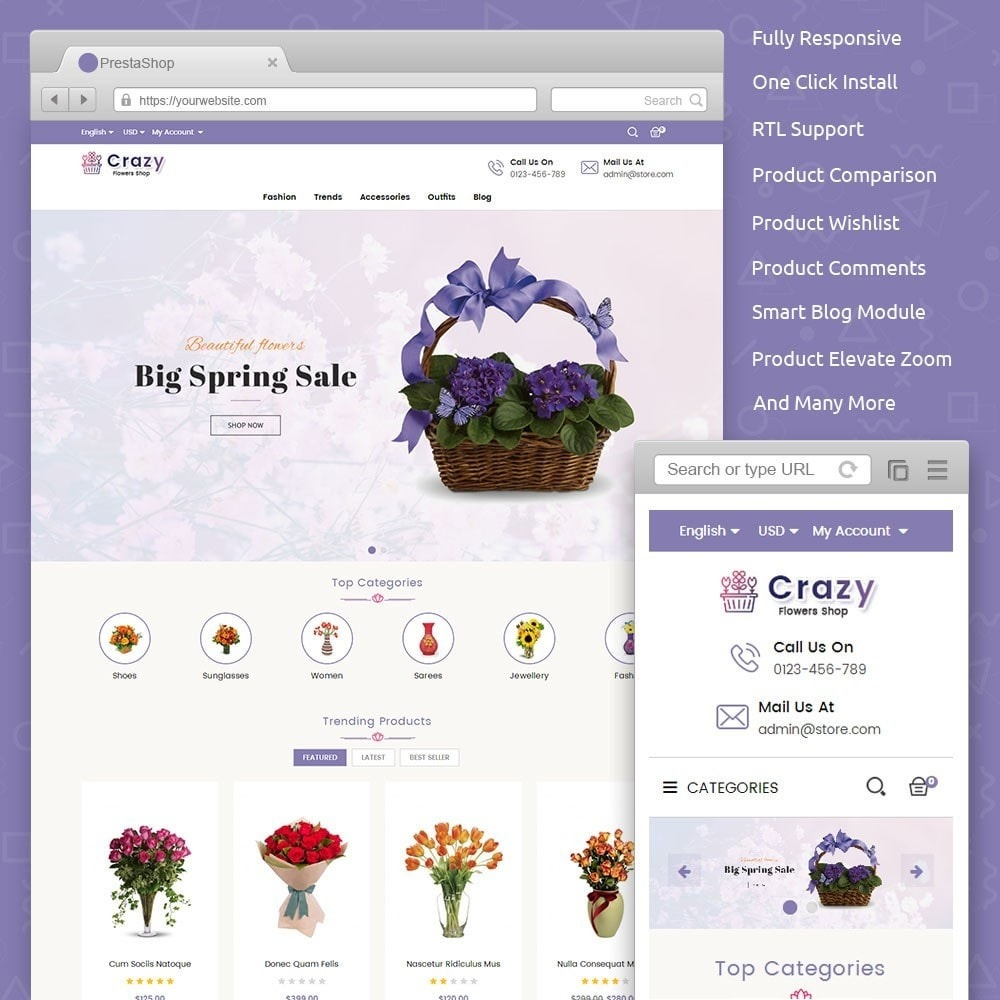 theme - Regali, Fiori & Feste - Crazy Flower Store - 1