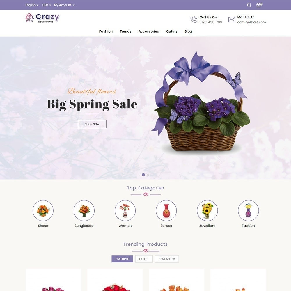 theme - Regali, Fiori & Feste - Crazy Flower Store - 2