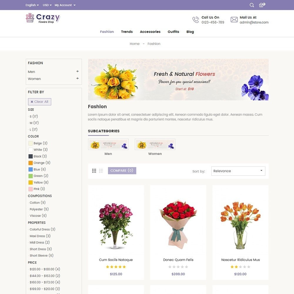 theme - Regali, Fiori & Feste - Crazy Flower Store - 3