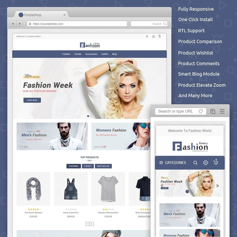 theme - Мода и обувь - Ramcy Fashion Store - 1
