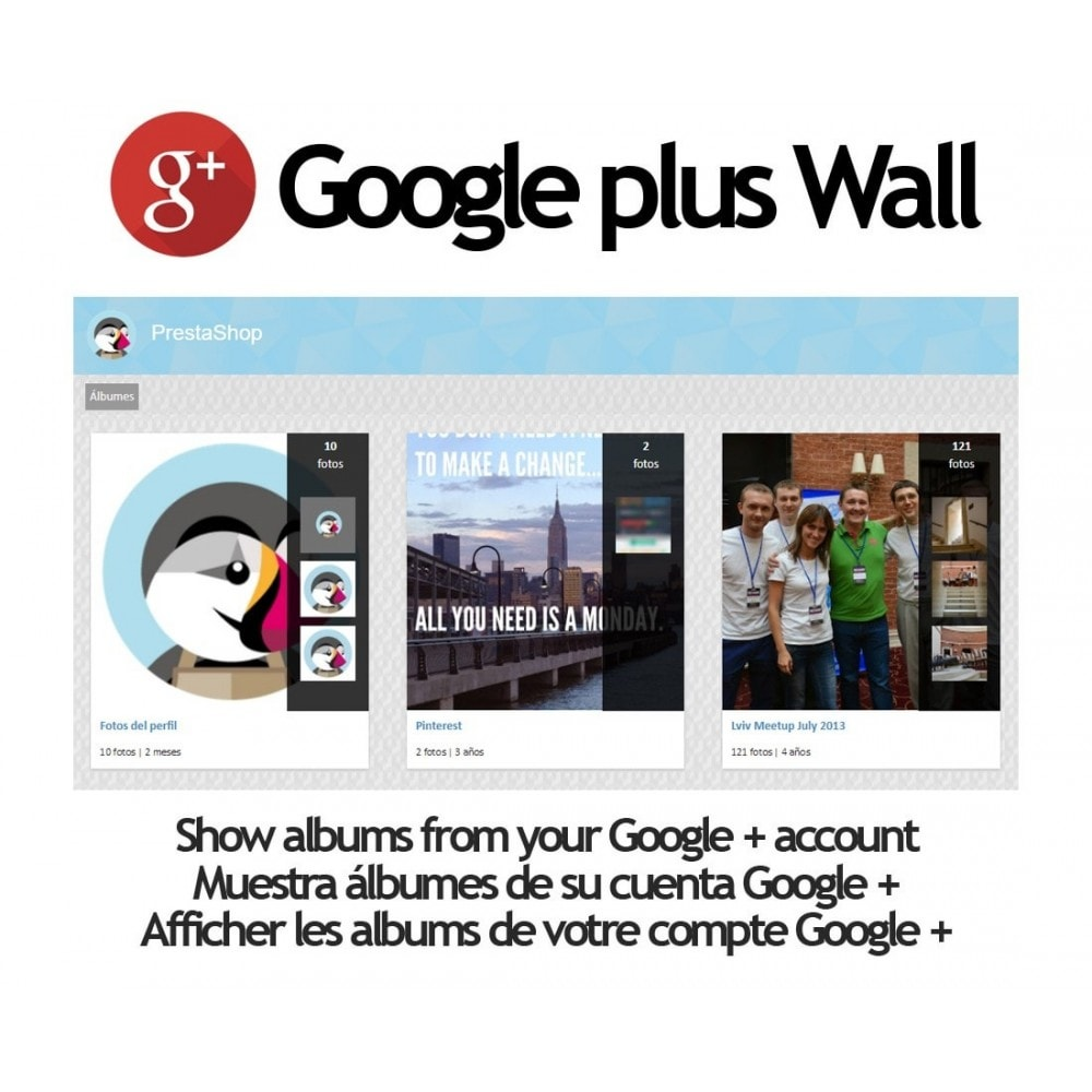 module - Sliders & Galerias - Google + Wall - 1