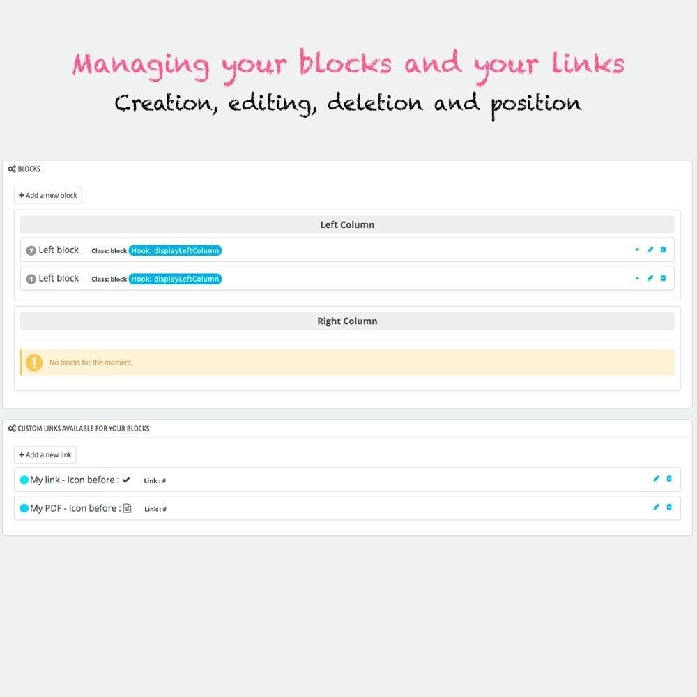 module - Bloques, Pestañas y Banners - Multi blocks custom links - 2