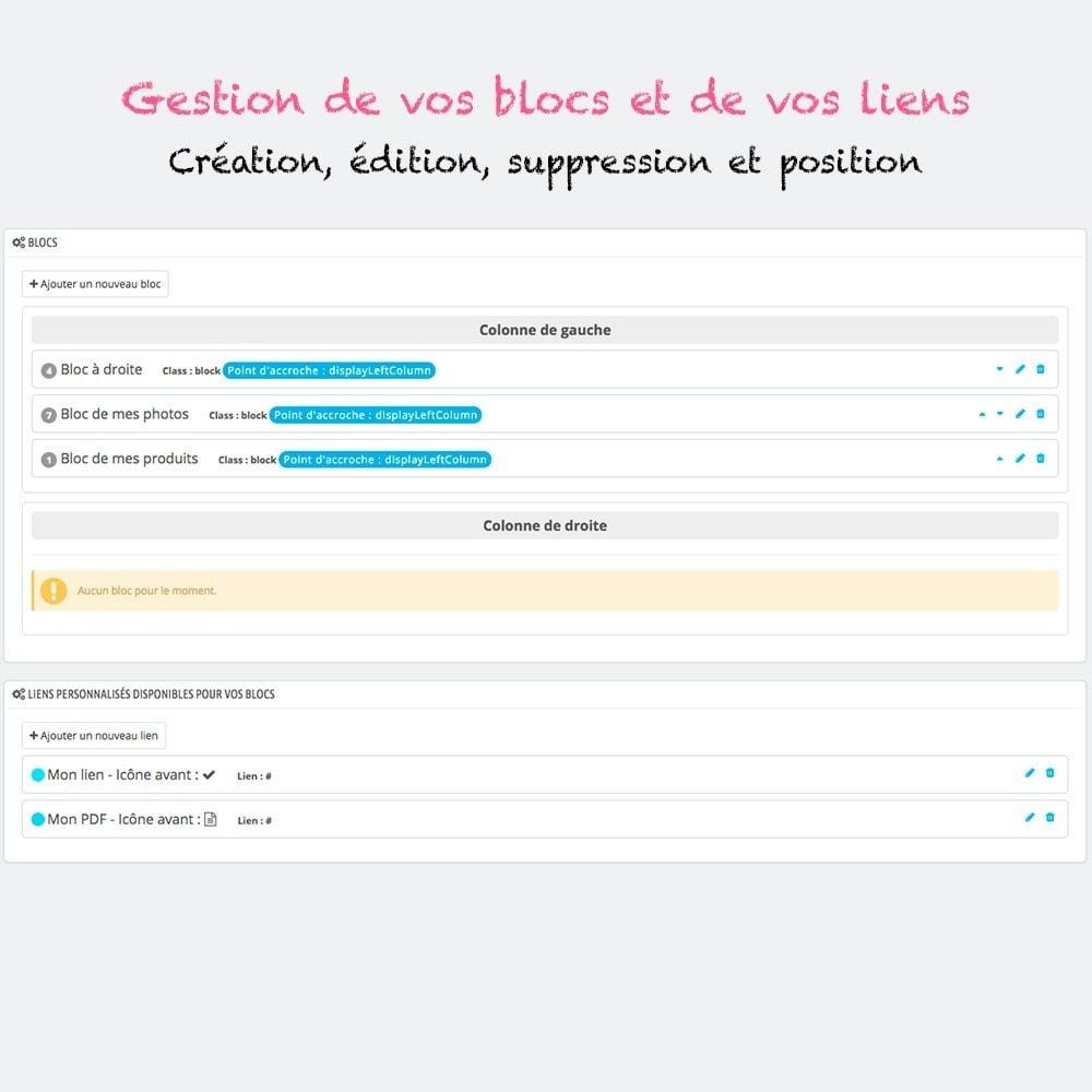 module - Blocs, Onglets & Bannières - Multi blocs de liens personnalisés - 2