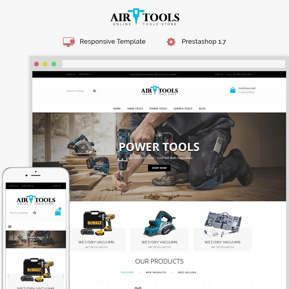 theme - Automotive & Cars - Air Tools Store V2 - 1