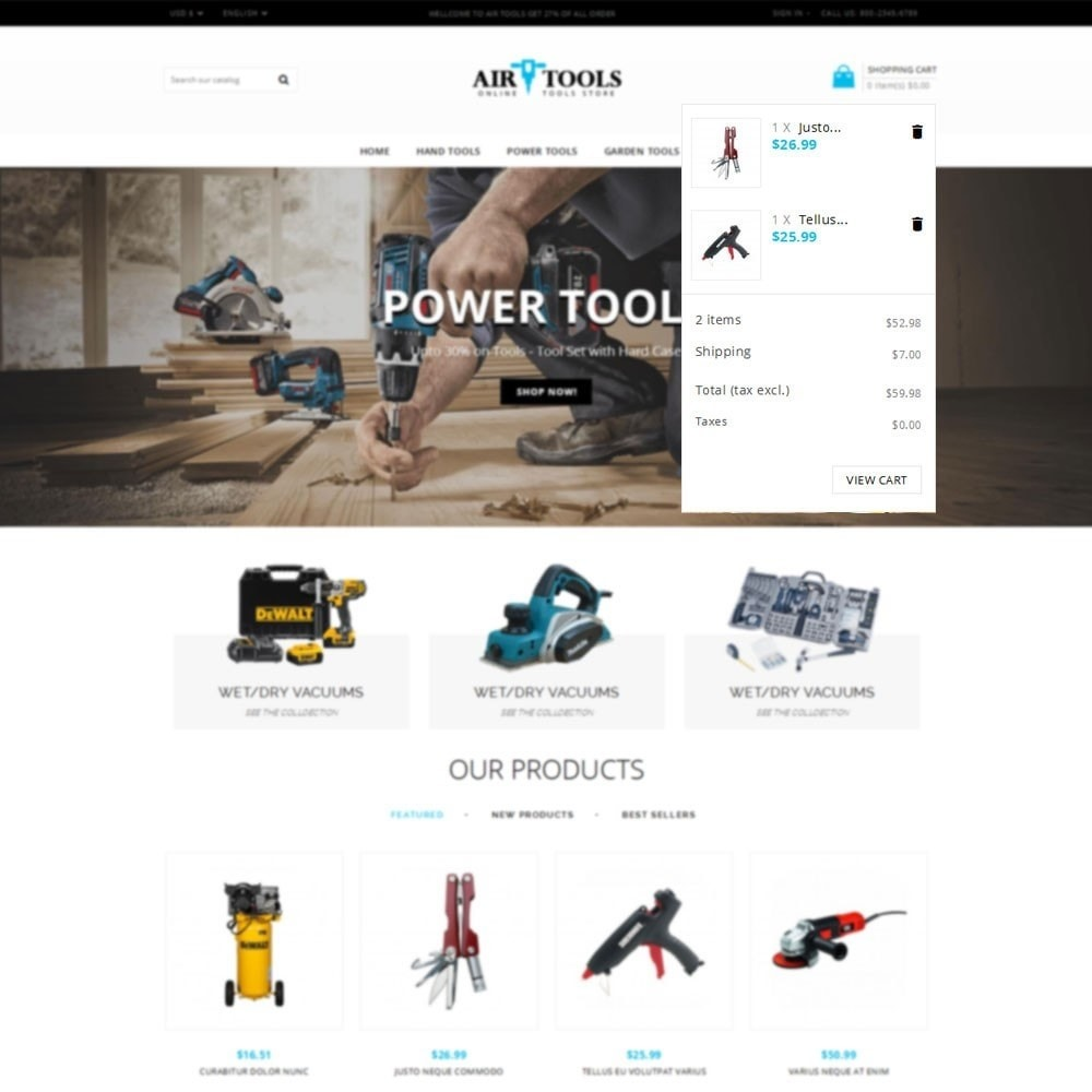 theme - Automotive & Cars - Air Tools Store V2 - 6