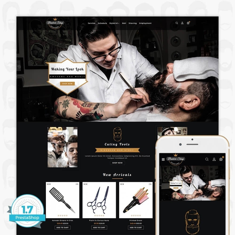 theme - Здоровье и красота - Barber Shop - The Premium Shop - 1