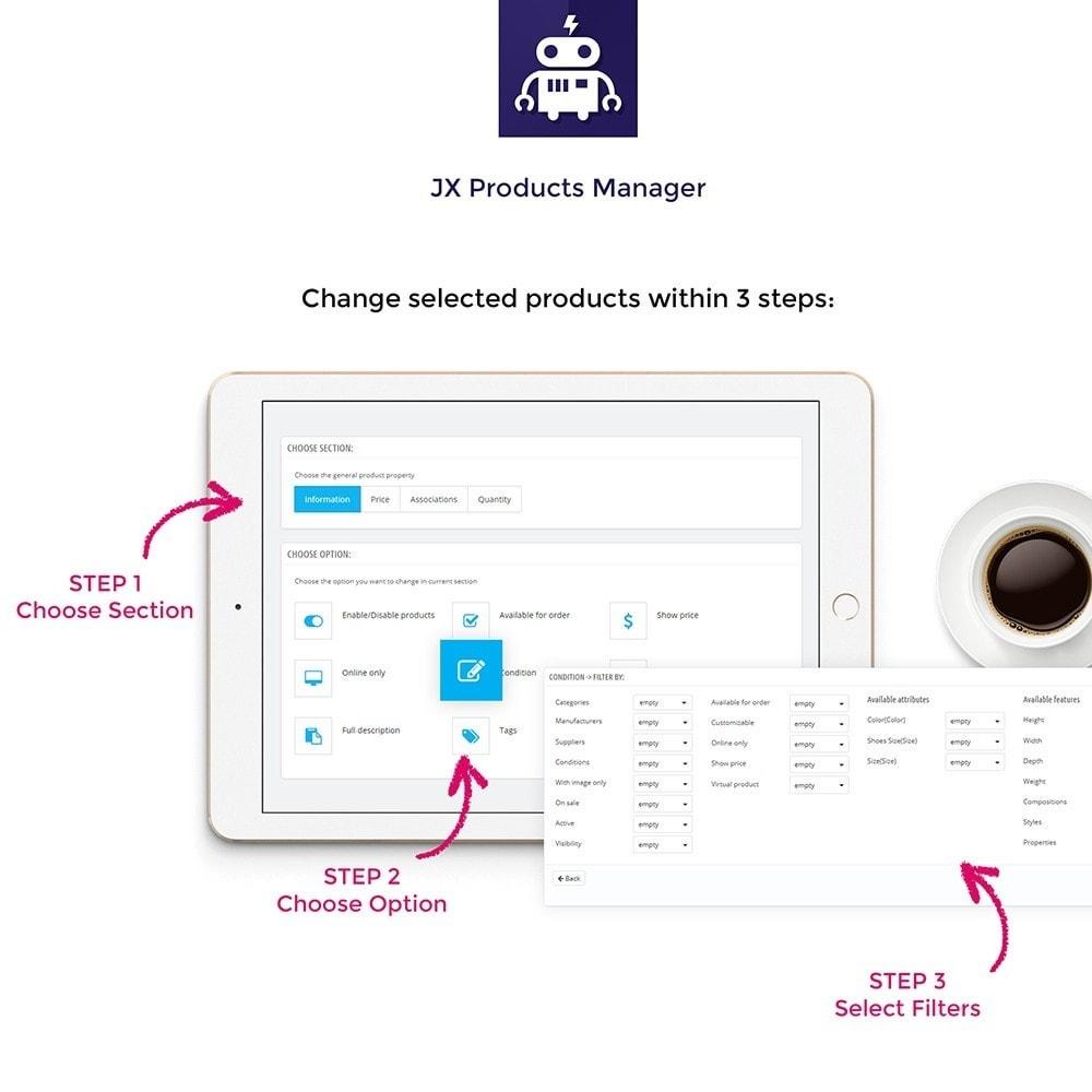 module - Edição rápida & em massa - JX Products Manager - 2