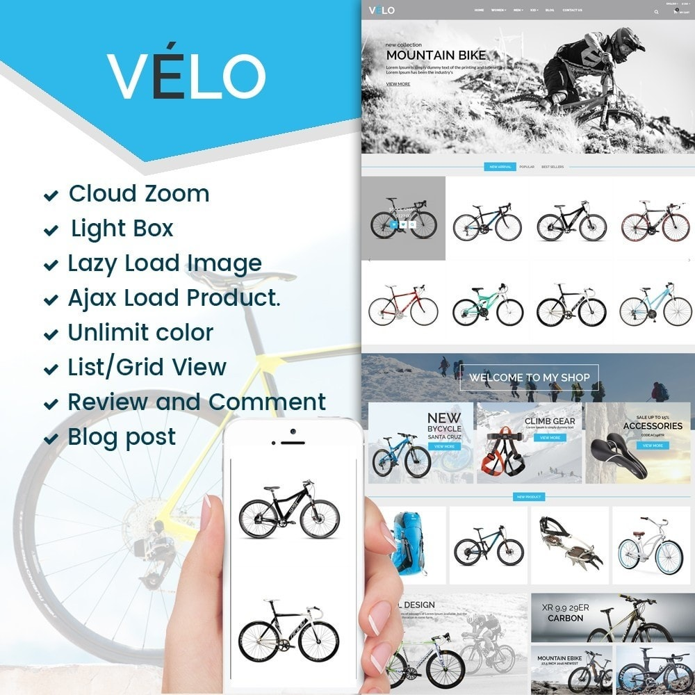 theme - Desporto, Actividades & Viagens - VeLo Bike Sport Store - 1