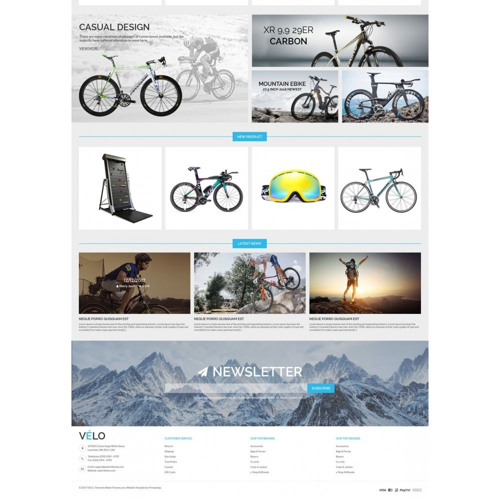 theme - Sports, Activities & Travel - VeLo Bike Sport Store - 3