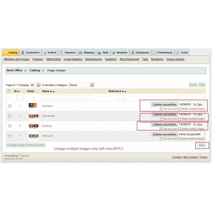 module - Edition rapide & Edition de masse - Multi Image Changer / Uploader - 1