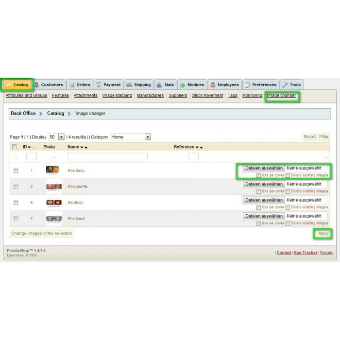 module - Szybkie & Masowe edytowanie - Multi Image Changer / Uploader - 2