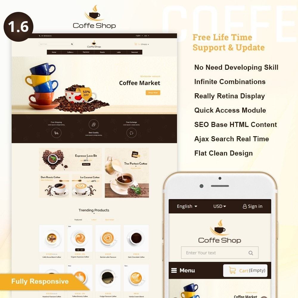 theme - Food & Restaurant - Coffee Shop - 1