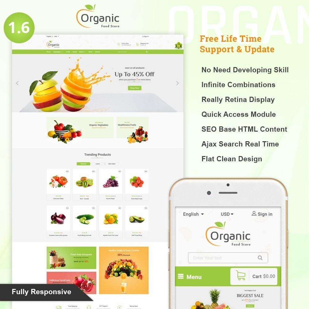 theme - Продовольствие и рестораны - Organic Food Store - 1