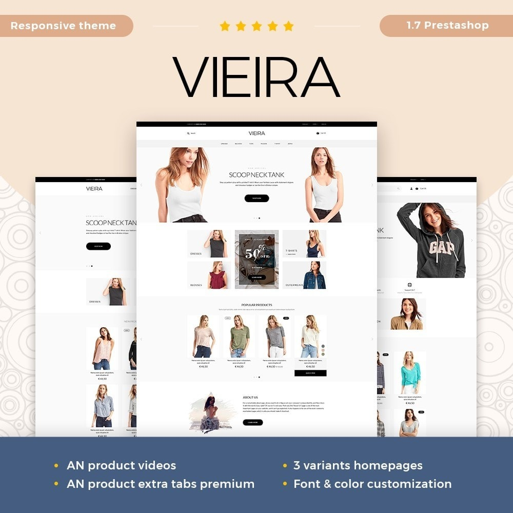 theme - Mode & Chaussures - Vieira Fashion Store - 1