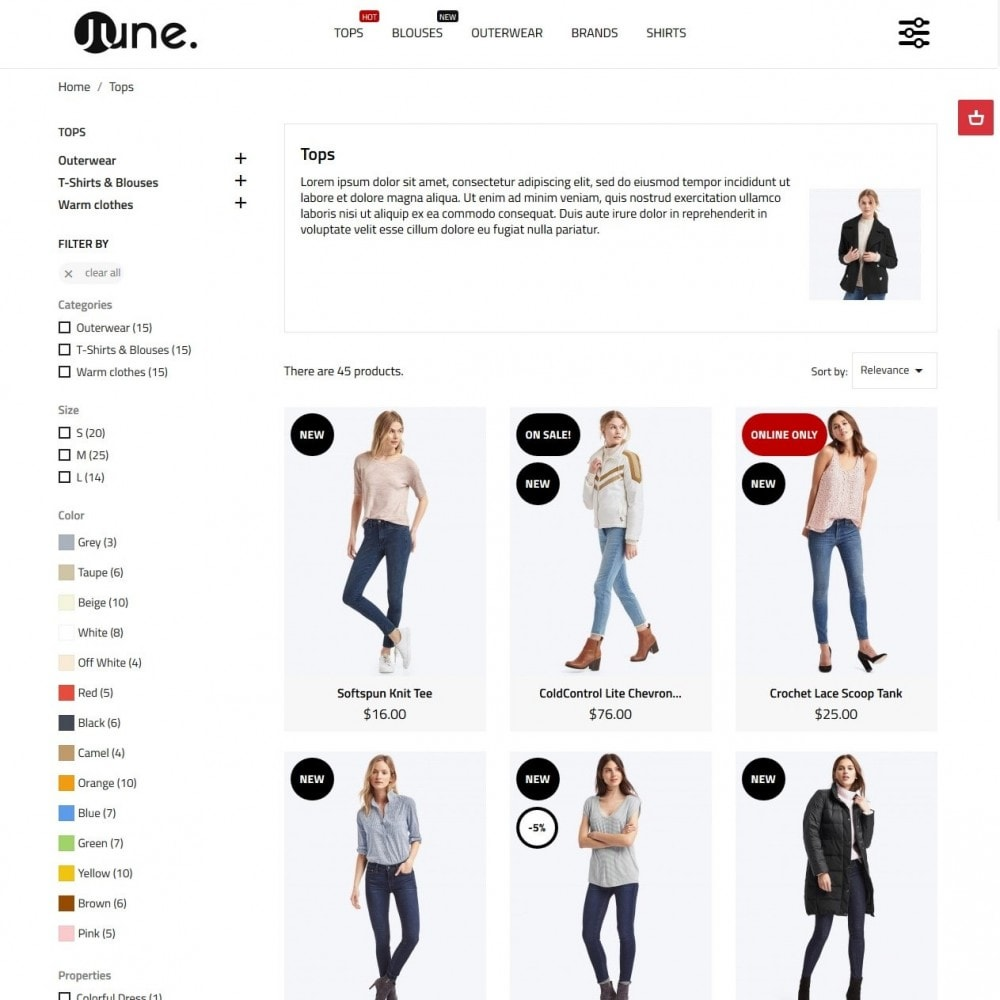 theme - Mode & Schoenen - June Fashion Store - 5