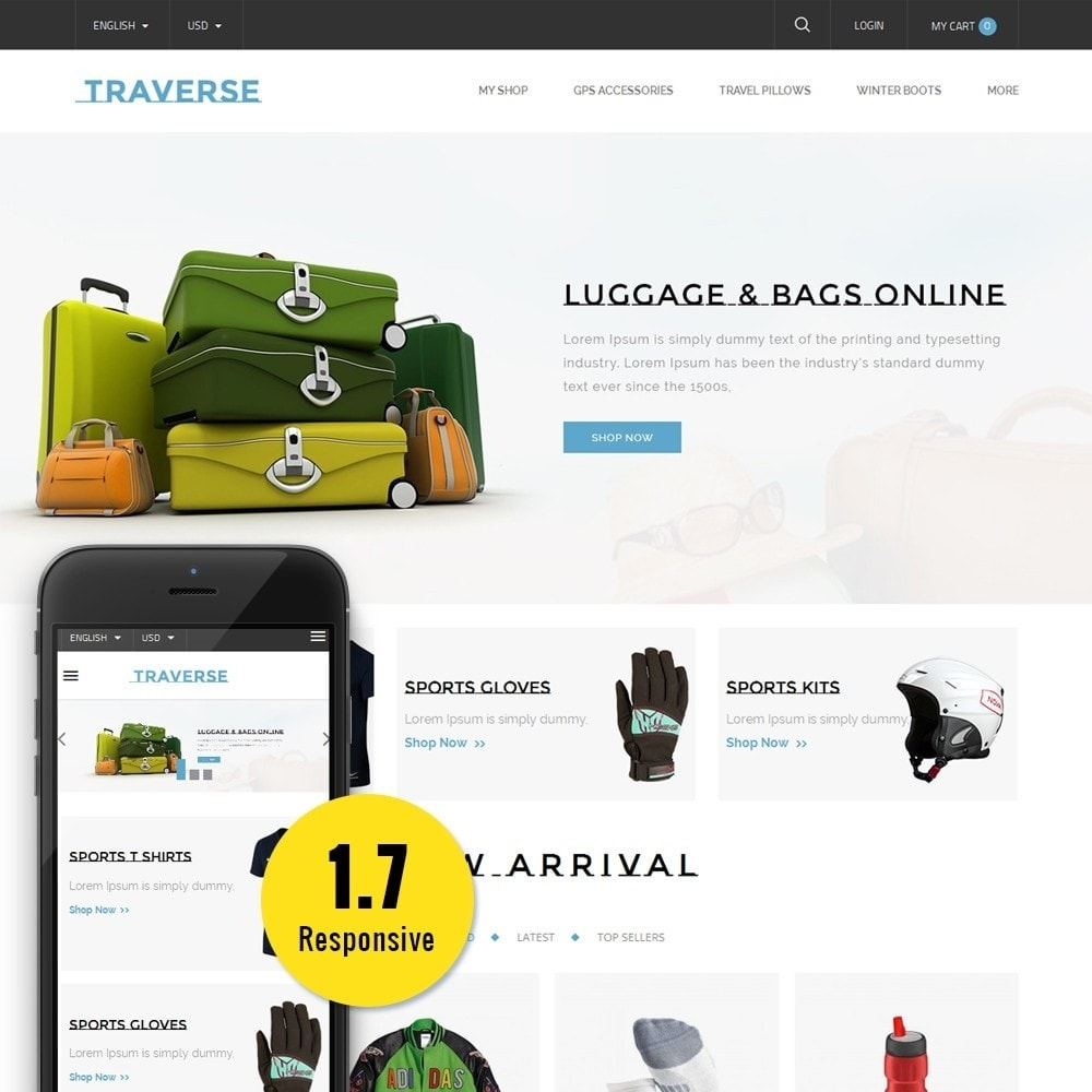 theme - Deportes, Actividades y Viajes - Traverse Store - 1