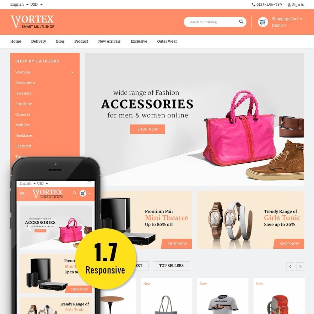 theme - Fashion & Shoes - Vortex Smart Multishop - 1
