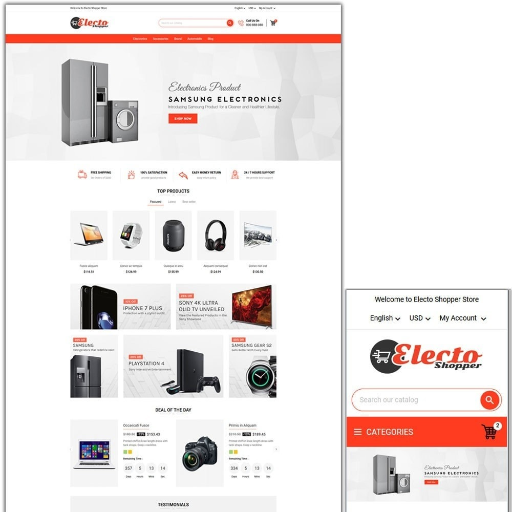 theme - Electronique & High Tech - Electo Shopper Store - 1
