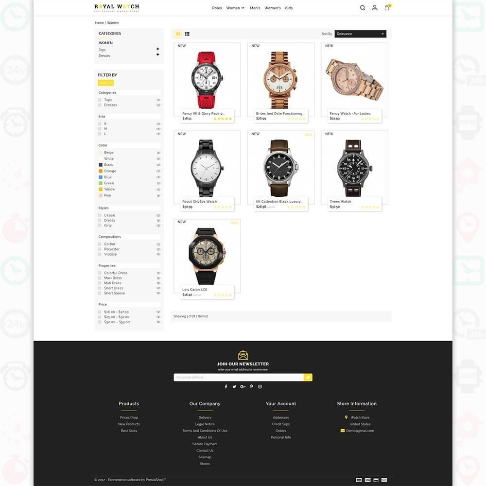 theme - Elektronika & High Tech - Royal Watch - The Special Watch Store - 3