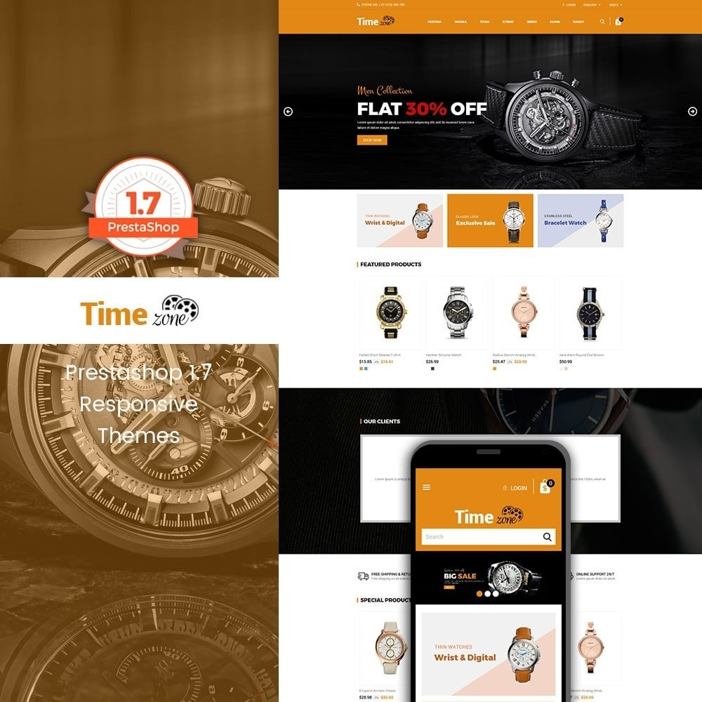 theme - Mode & Chaussures - Time Zone Watch Store - 1