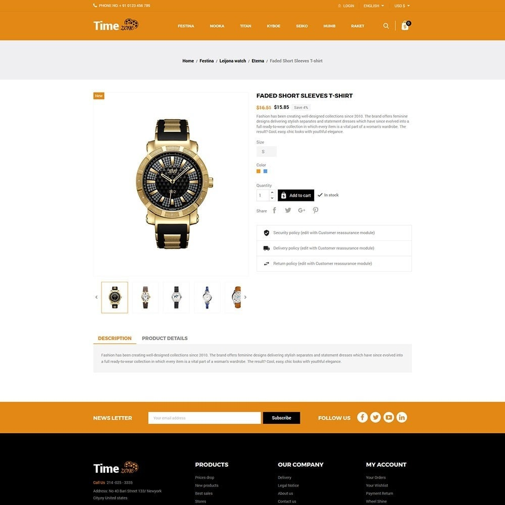 theme - Mode & Chaussures - Time Zone Watch Store - 5