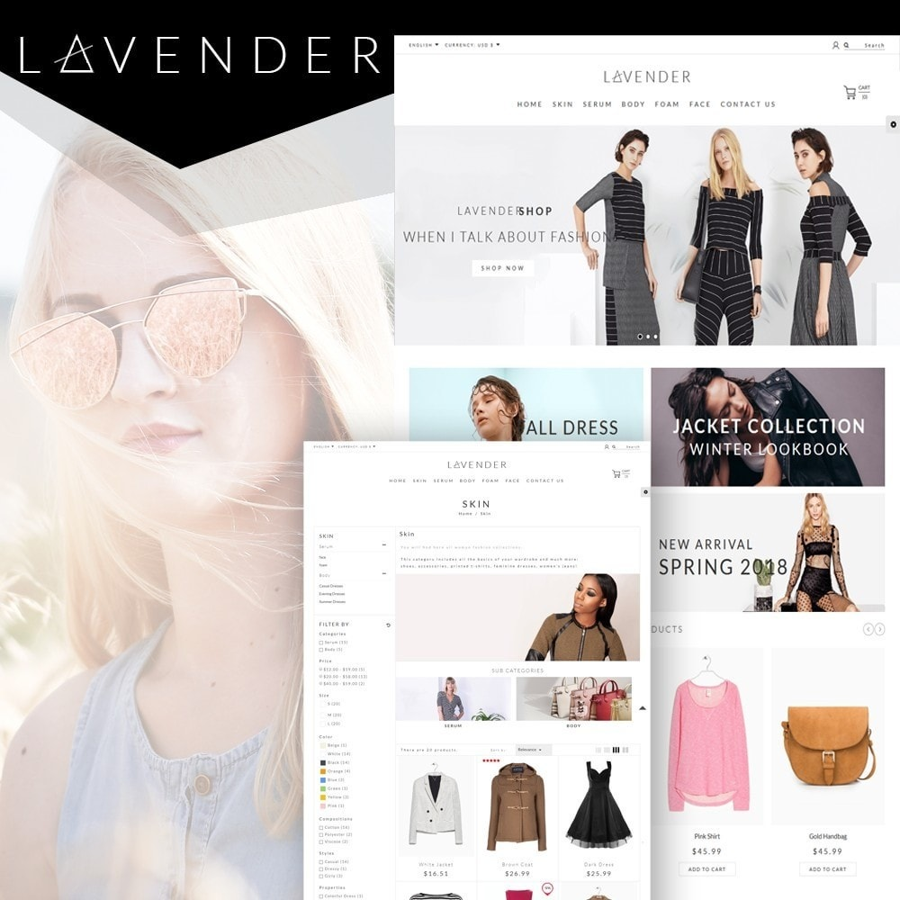 theme - Fashion & Shoes - Lavender Fashion Store - 1