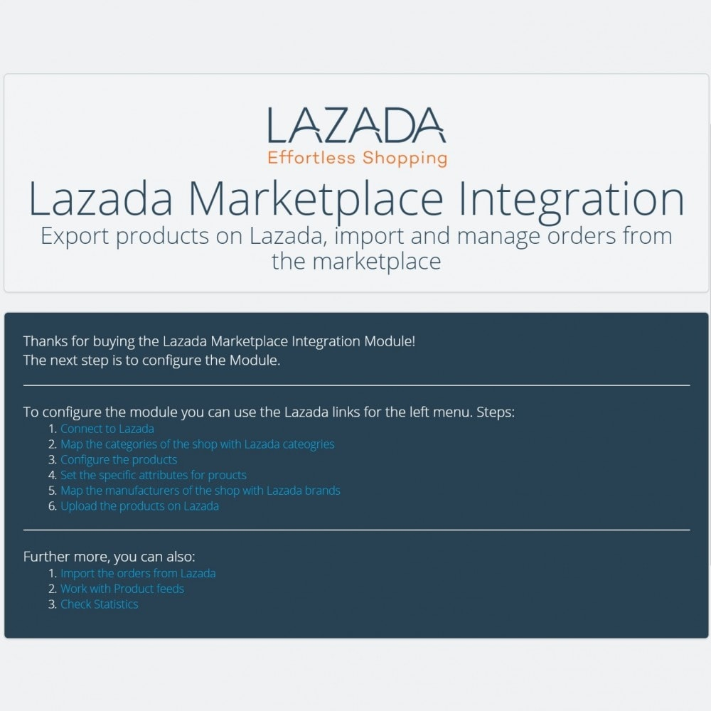 module - Marketplace - Lazada Marketplace Integration - 4