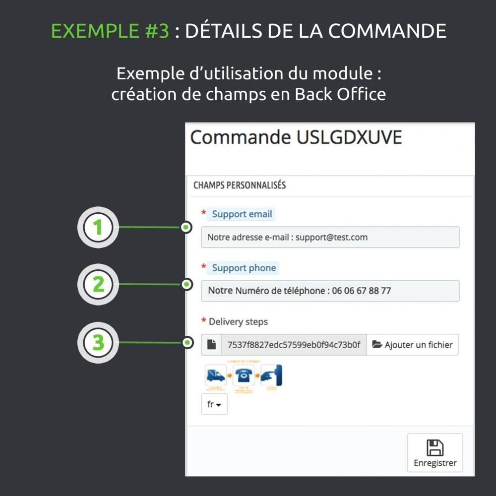module - Information supplémentaire & Onglet produit - Champs personnalisés avancés : créer de nouveaux champs - 12