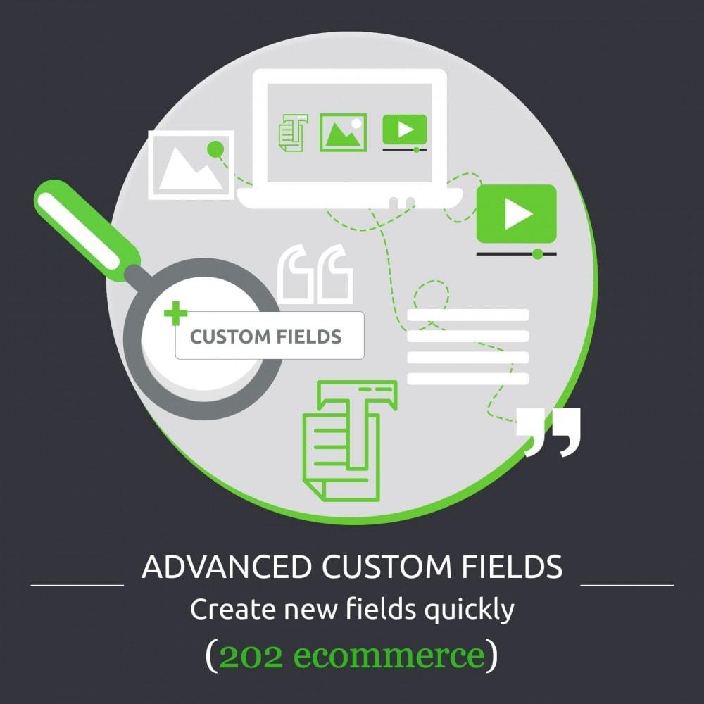 module - Informaciones adicionales y Pestañas - Advanced Custom Fields : create new fields quickly - 1
