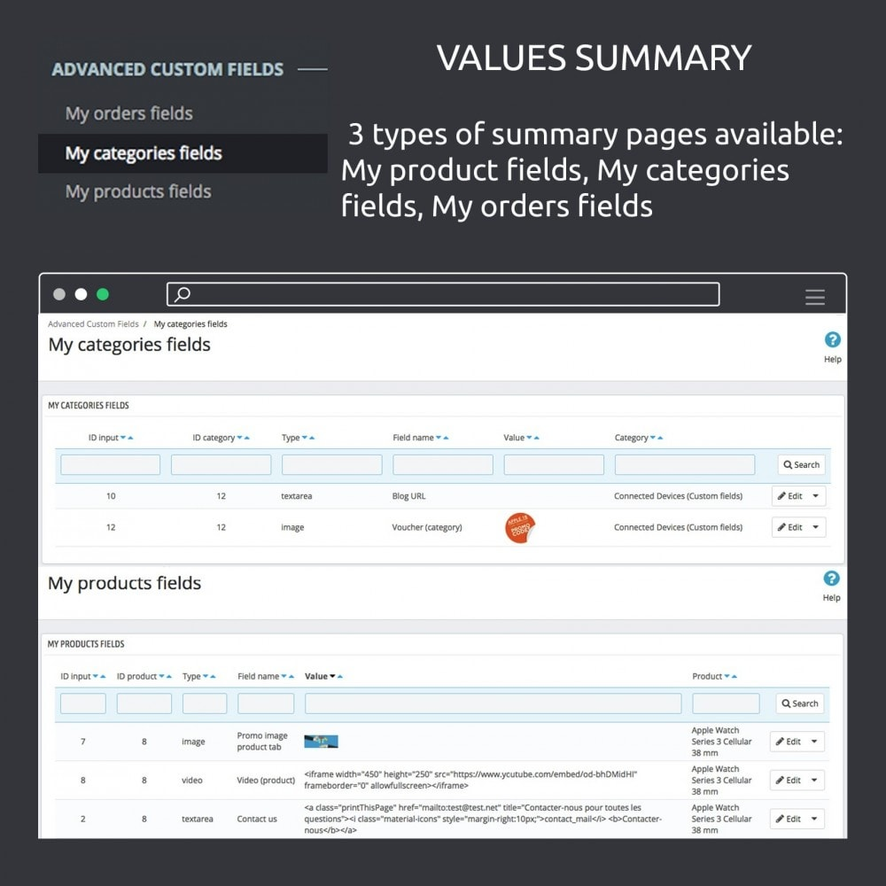 module - Additional Information & Product Tab - Advanced Custom Fields : create new fields quickly - 15