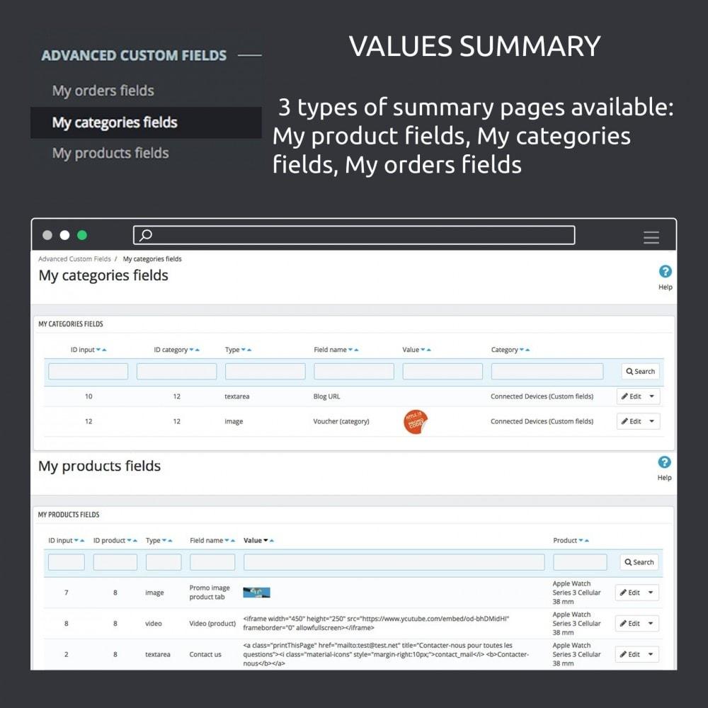 module - Informaciones adicionales y Pestañas - Advanced Custom Fields : create new fields quickly - 15